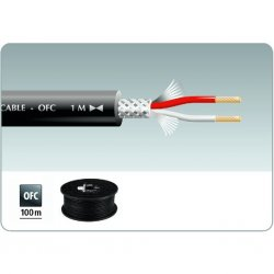 MLC-152 ( 100M ) Microfoon Cable Red Black Blue