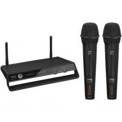 Digital wireless 2-channel PLL microphone system, 2.4 GHz TXS-2402SET
