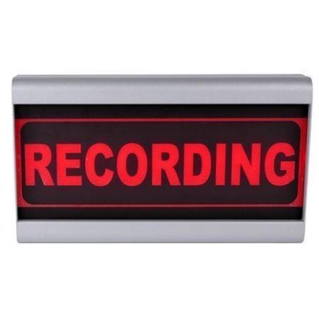 d r studio sign recording light mono face