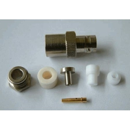 BNC-Female Soldeer connector.Clamp RG 58 (10 stuks)