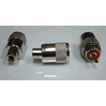 PL259 / UHF-Male twist-on voor RG58 (10 stuks)