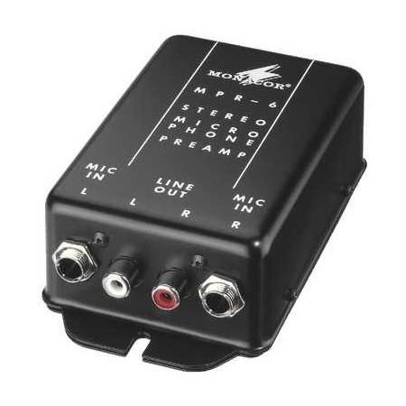 Monacor MPR 6 microfoon voorversterker