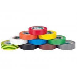 Soft PVC electrical insulating tape set 10 rollen