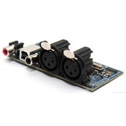 Audio input board AES/EBU RCA-XLR-USB + 20cm flat cable