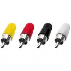 T-700G/GE RCA Plugs Red |White | Black | Yellow(10 stuks)