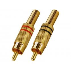 T-707GLC RCA Plug-In Connectors vergulde lichaam