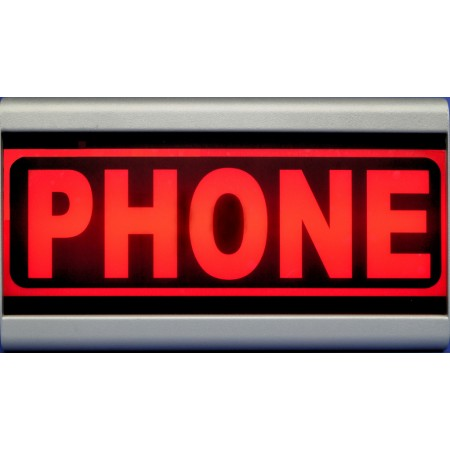 D&R Studio Sign Phone warning  light  Mono Face