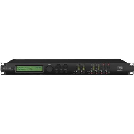 IMG-Stage Line DEQ-230 professional digital parametric/graphic 2 x 30 band stereo equalizer with high-quality DSP