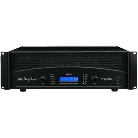 IMG-Stage Line STA-3000 Professional stereo 5.5 KW PA amplifier