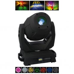 LED moving head TWIST-95ZOOM met motor zoomfunctie 90 W high-performance LED extra hoge lichtsterkte