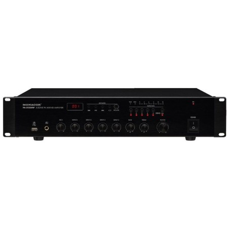 5-zone mono PA mixing amplifier, with integrated MP3 player 1 x 120 WRMS